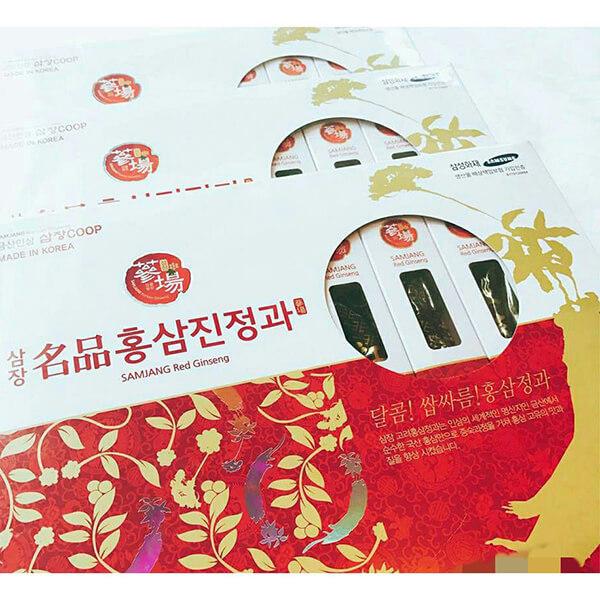 Hồng Sâm Tẩm Mật Ong Samjang Hàn Quốc Hộp 8 củ