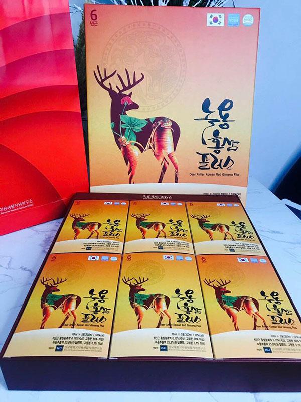 Nước hồng sâm nhung hươu Hàn Quốc - hộp 30 gói x 70ml