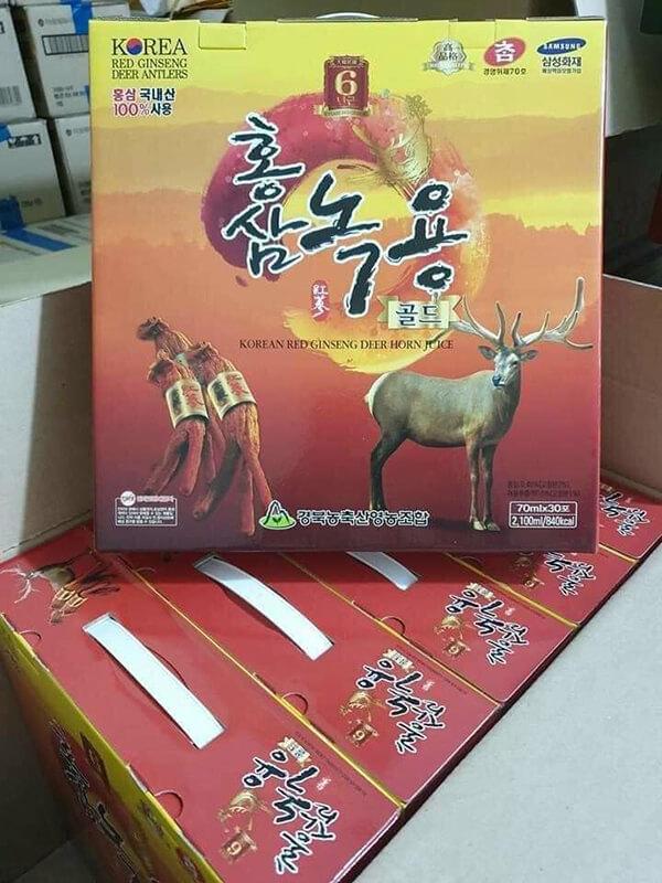 Review đánh giá Nước hồng sâm nhung hươu Hàn Quốc