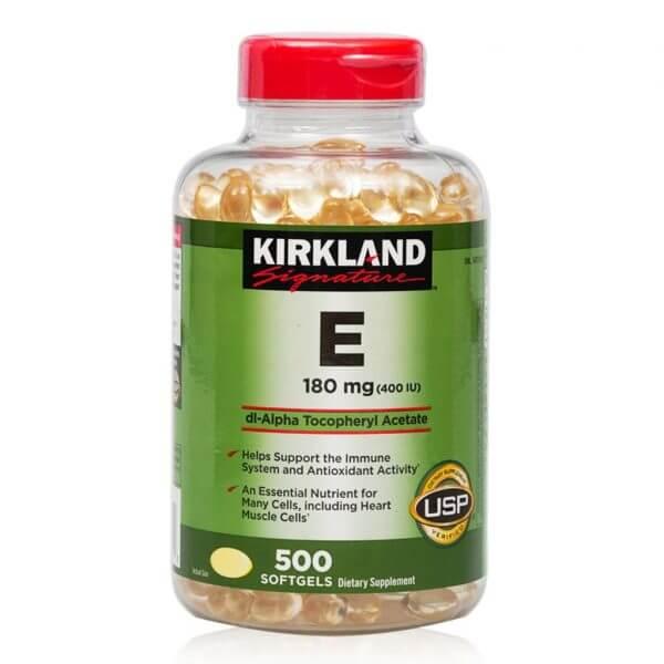 vitamin e kirkland 500 vien cua my