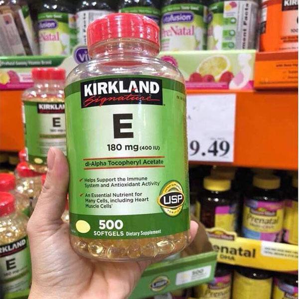 Vitamin E Kirkland 500 viên của Mỹ