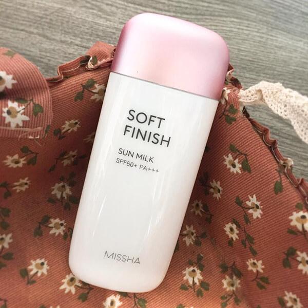 Kem Chống Nắng Missha Soft Finish Sun Milk 70ml SPF 50+/PA