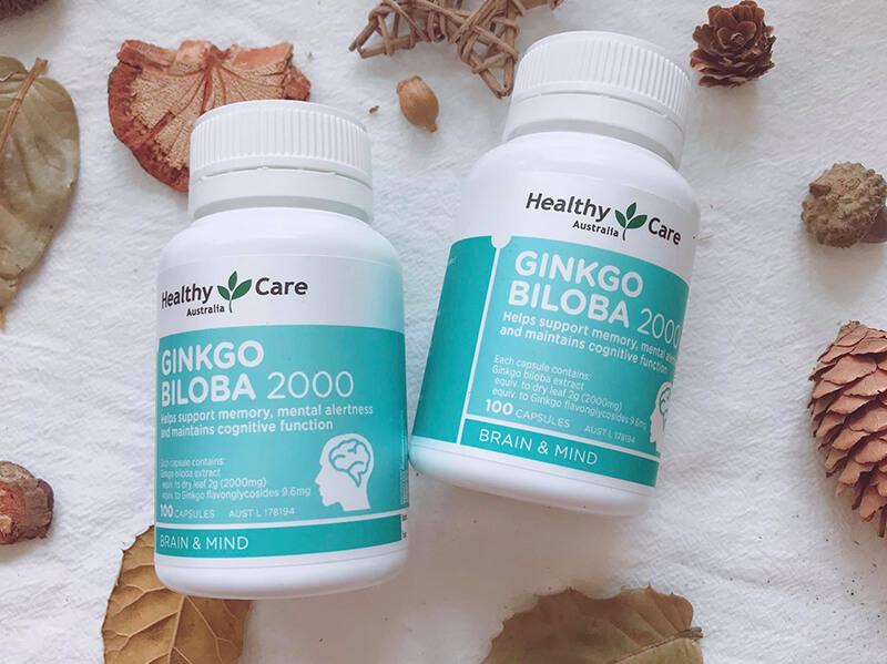 Viên uống bổ não Healthy Care Ginkgo Biloba 2000mg