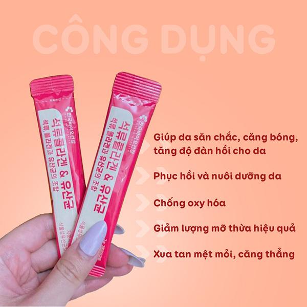 thành phần Bột Collagen Uống Lựu Đỏ Bio Cell Hàn Quốc